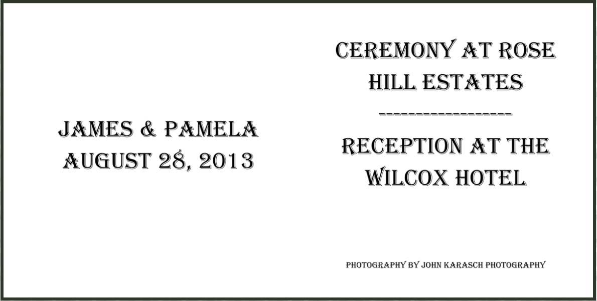 Rose Hill Estates and Wilcox Hotel Wedding Album-18