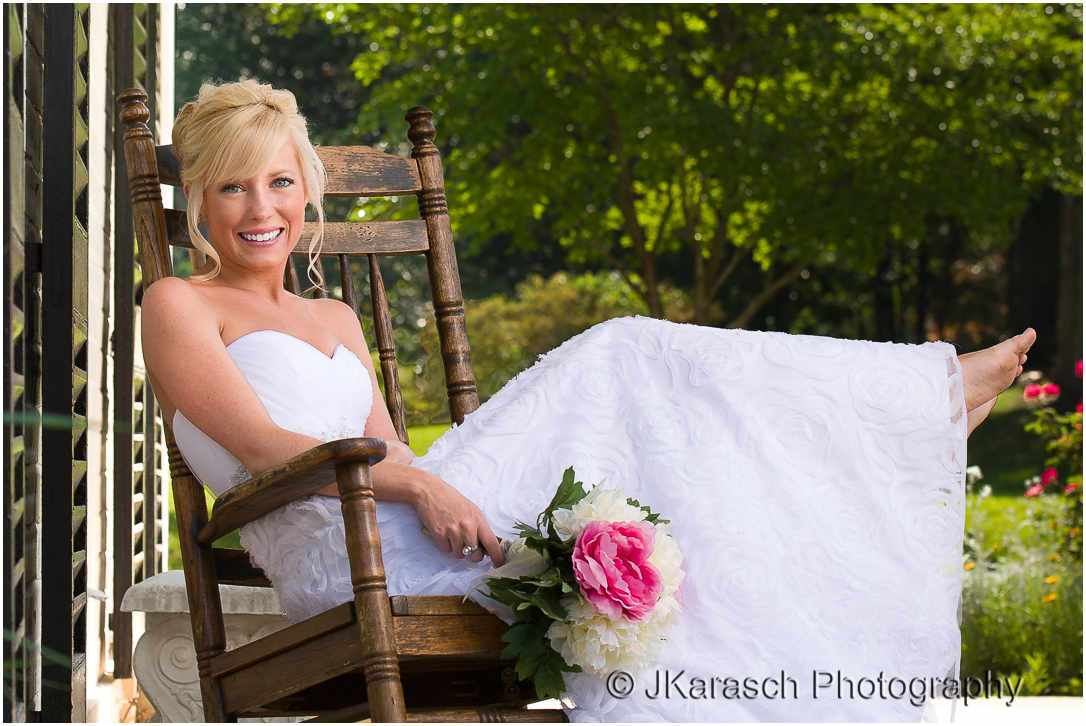 Bridal Portrait in Rocking Chair