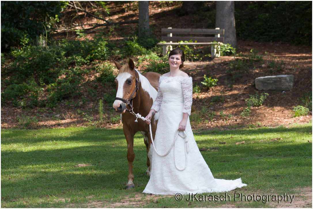 Bride with Horse in Aiken