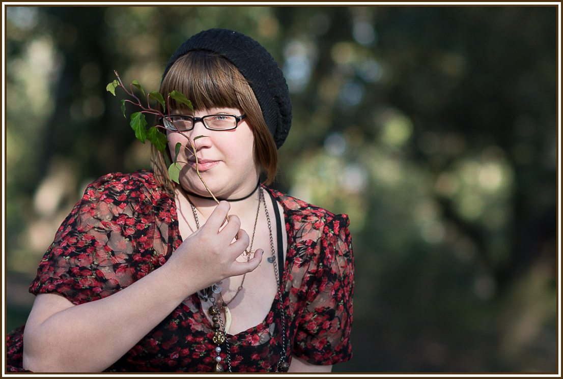 Senior Portrait in Hopeland Gardens